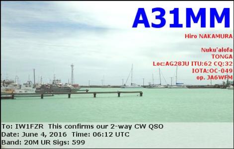 A31MM 04062016 0612 20m CW