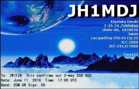 JH1MDJ 11062016 1700 20m SSB