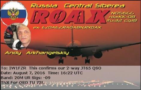 R0AX 07082016 1622 20m JT65