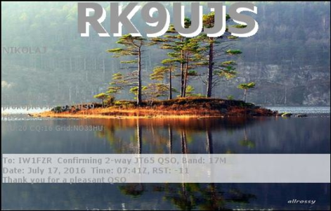RK9UJS 17072016 0741 17m JT65