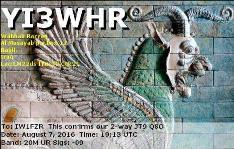 YI3WHR 07082016 1913 20m JT9